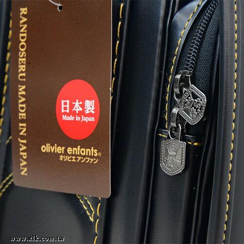 2019年新款日本協和製黑色自動上鎖小學生書包(滾金色縫線) 7