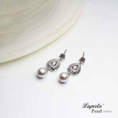大東山珠寶 星芒 日本AKOYA天然海水珍珠純銀晶鑽耳環 1