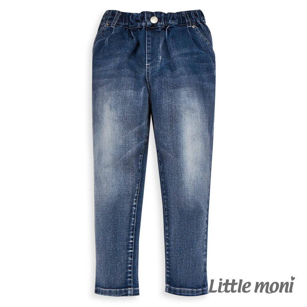 Little moni 牛仔打褶褲-牛仔藍(好窩生活節) 1