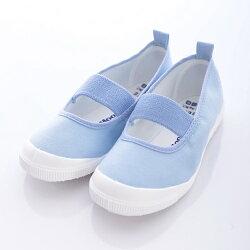日本 MOONSTAR 兒童抗菌室內鞋/幼稚園-淺藍(15cm-17cm)(日本進口)