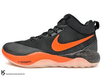 2017 Devin Booker 專屬 LOGO 中價位籃球鞋款 NIKE ZOOM REV PE EP 黑橘 HYPERFUSE 鞋面科技 + ZOOM AIR 氣墊 XDR 耐磨橡膠外底 輕量化..