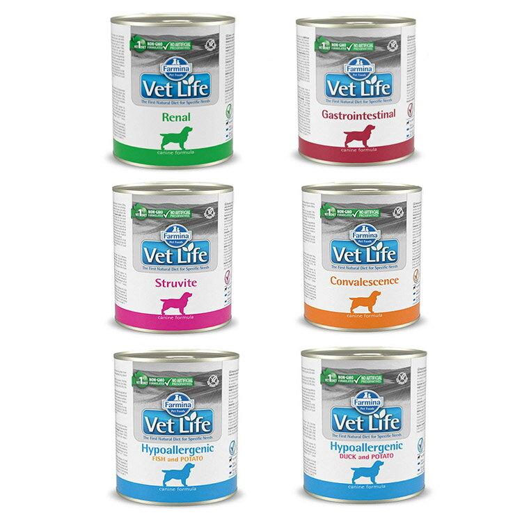 法米納-犬用處方主食罐300g (腎臟/泌尿道/腸胃道/高營養/低敏)