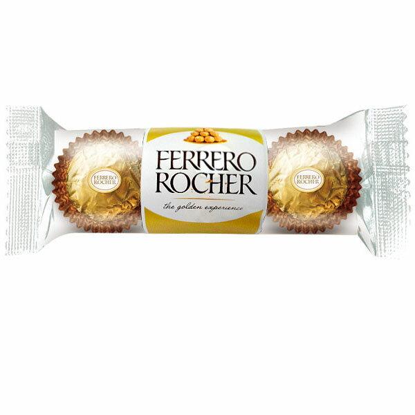 意大利 金莎 巧克力 三粒裝 37.5g【康鄰超市】 1