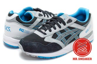 ☆Mr.Sneaker☆ ASICS Tiger GEL-SAGA H648L9011 亞瑟膠 潑墨 藍黑 男女段