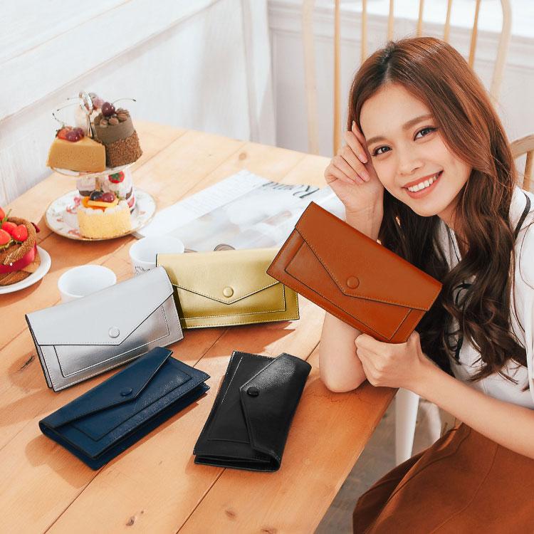 質感仿真皮2用長夾,文青簡約素面款手掛包 皮夾 斜背包 可放iphone6s 護照 89.Alley ☀5色 1