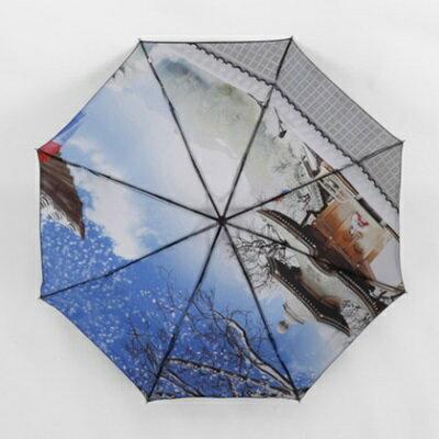 遮陽傘抗UV防曬晴雨傘-時尚創意油畫三折戶外用品73fa34【獨家進口】【米蘭精品】