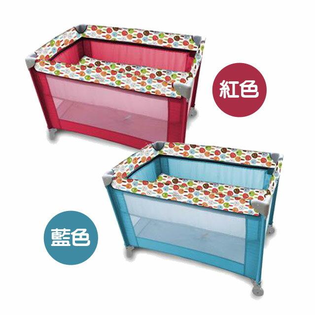 馬克文生 GP05B 雙層遊戲床 (紅/藍)【悅兒園婦幼生活館】