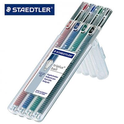 施德樓MS431MSB4Triplus三角舒寫原子筆(M尖)4色組盒