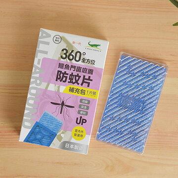 【鱷魚必安住】門窗庭園防蚊片補充包(單片裝)