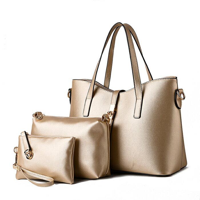 歐美時尚經典簡約氣質包中包三件組 #KLY8884 2
