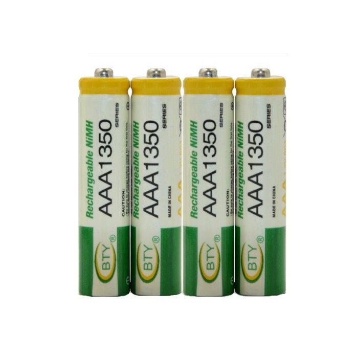 BTY鎳氫電池4號(1入)電池AAA1350玩具鍵盤滑鼠 鬧鐘 充電電池【DQ210】◎123便利屋◎