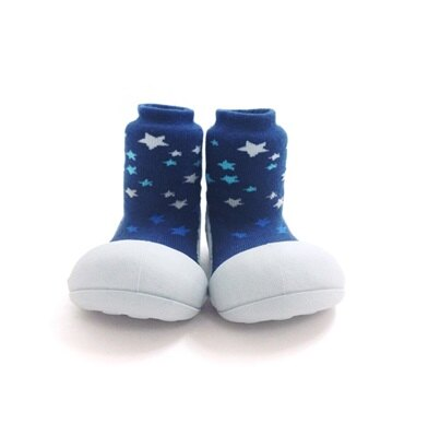 【本月特價$599】韓國【Attipas】快樂腳襪型學步鞋-白底星空 - 限時優惠好康折扣