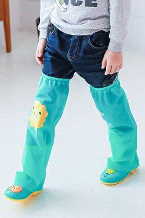 Kocotree◆ 雨天必備時尚可愛防水卡通腳套過膝雨鞋套兒童腿套-童話卡通X綠色