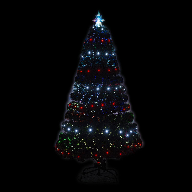 HomCom 4' Artificial Holiday Decoration Light Up Christmas Tree - Green 1