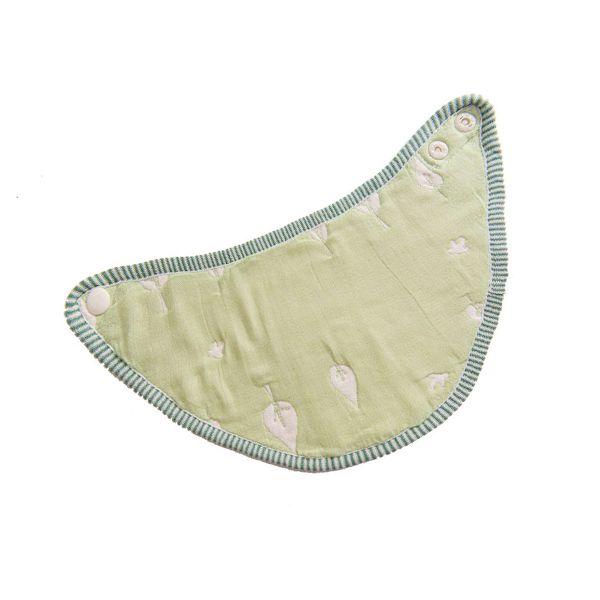 ★衛立兒生活館★Hibou 六層紗口水巾圍兜/三角巾-木與鳥