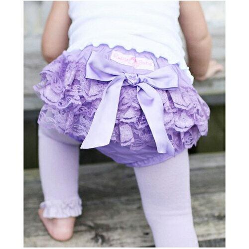 【hella 媽咪寶貝】美國 RuffleButts 小女童荷葉屁屁褲/包屁褲 薰衣草紫蕾絲 (RBRBW021)