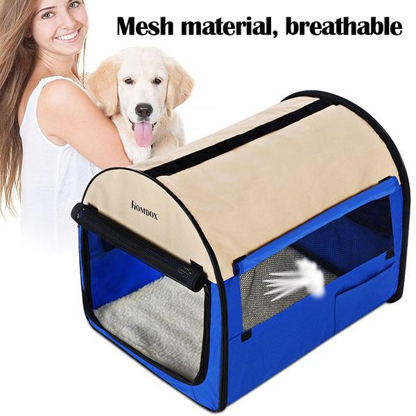 32inch Blue Oxford Portable Folding Pet Dog Soft Carrier Cage Home Crate Case 0