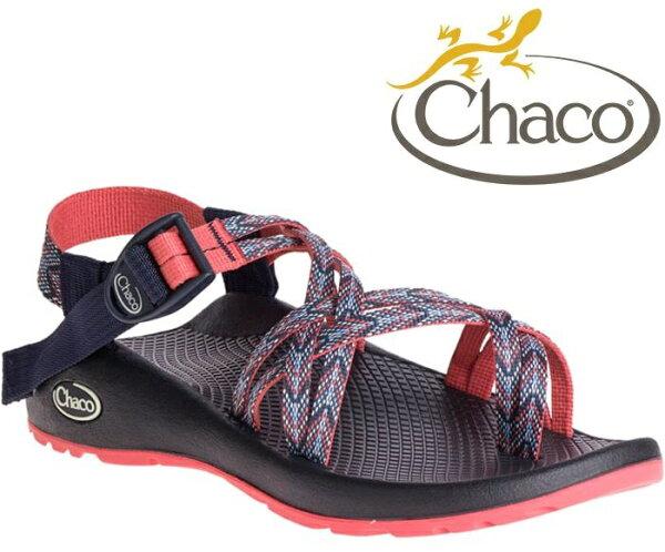 Chaco雙織帶涼鞋越野運動涼鞋水陸鞋綁帶涼鞋細織夾腳款女美國佳扣CH-ZCW04HE42映像日蝕
