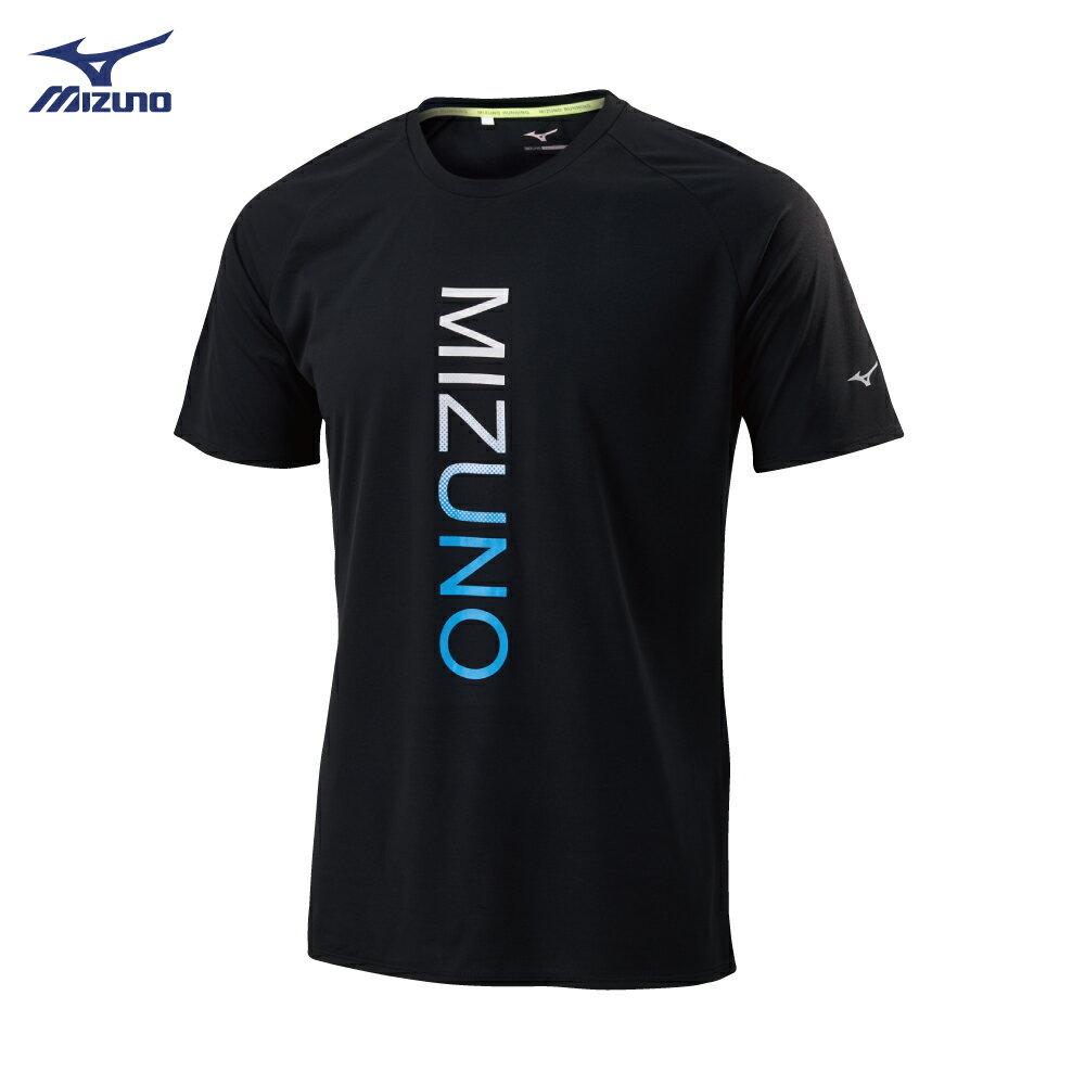 男款路跑袖T恤 J2TA900909(黑)【美津濃MIZUNO】 2
