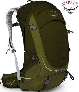 OspreyStratos34登山背包郊山背包健行背包透氣網架背包男款鱷魚綠台北山水