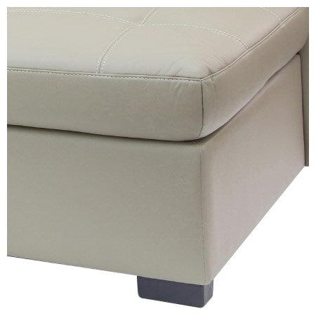 ◎(OUTLET)半皮左躺椅L型沙發 CAPUCCINO BE 福利品 NITORI宜得利家居 3