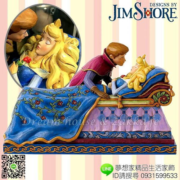 美國ENESCO精品JimShore愛木小灣DISNEY迪士尼睡美人與王子之吻《Aurora奧羅拉》★夢想家精品家飾★