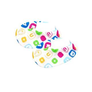 『121婦嬰用品館』PUKU 夏日純棉印花腳套 0-12M(藍) 0
