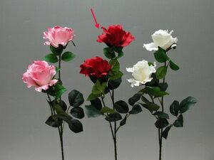 ★超低價★27吋 二花玫瑰-紅 / 人造花 空間 景觀 佈置 造景
