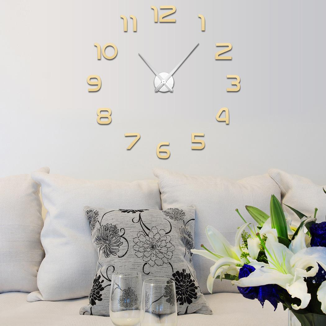 DIY 3D Room Decor Wall Clock Sticker Mirror Surface 1