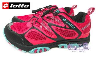 【巷子屋】義大利第一品牌-LOTTO樂得 女款透氣山水車三棲鞋 [3593] 莓紅 超值價$690