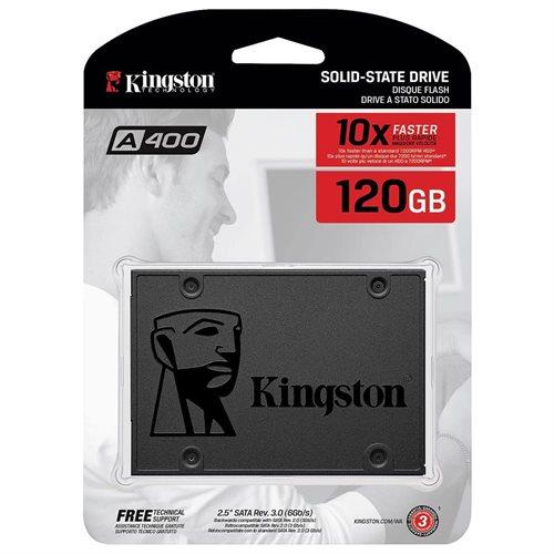 """Kingston SSD A400 Series 120GB 2.5"""" SATA III 6Gb/s 7mm TLC Internal Solid State Drive SA400S37/120G 0"""