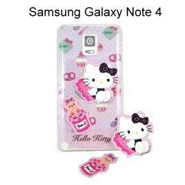 Hello Kitty 拭鏡貼透明軟殼 [甜點粉] Samsung Galaxy Note 4 N910U【三麗鷗正版授權】