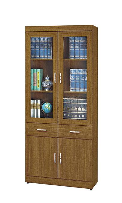 ~尚品傢俱~HY~A495~03 泰森柚木2.7X6尺中抽書櫃