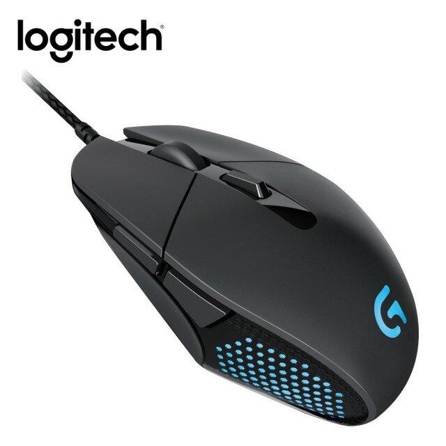 內置金屬彈簧高反應張力!【Logitech 羅技】自由設定DPI和自訂鍵  1680萬RGB背光色 技能版遊戲滑鼠 G303 Daedalus Apex