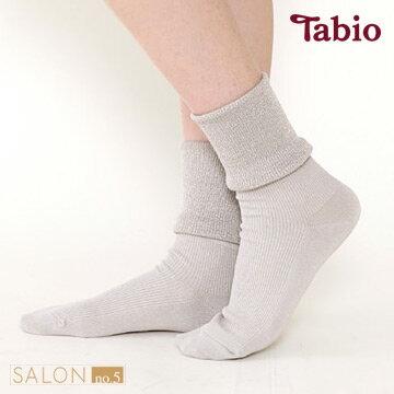 日本靴下屋Tabio休閒羅紋蓬鬆折疊短襪