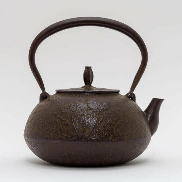 日本鑄鐵壺南部鐵器-【佐藤勝久平丸型蒲公英1.1L】鐵壺鉄瓶煮水泡茶