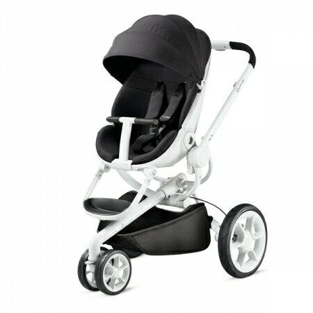 【贈Maxi Cosi Cabrofix提籃】荷蘭【Quinny】Moodd-2015 嬰兒推車(白管黑)