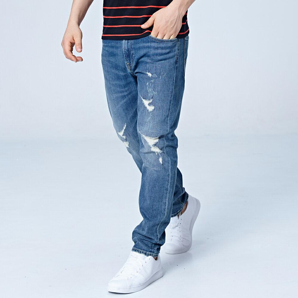 Lee 731 中腰舒適小直筒牛仔褲 101+ Magma 男款 中深藍