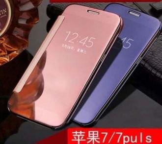 蘋果iPhone784.7吋誠礜電鍍鏡面翻蓋式手機皮套