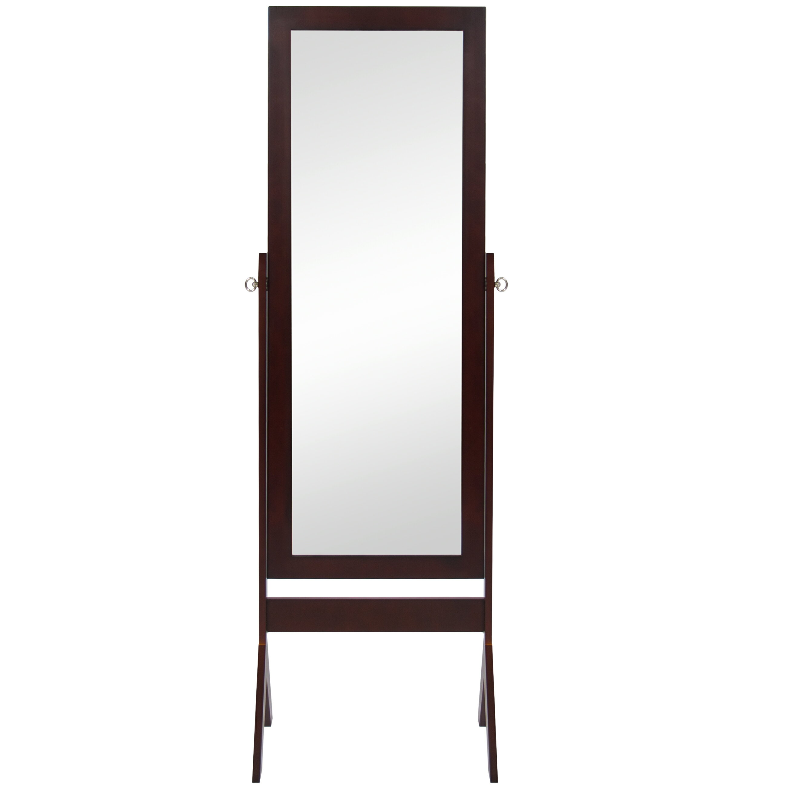 Best Choice Products Cheval Floor Mirror Bedroom Home Furniture- Espresso Brown 2
