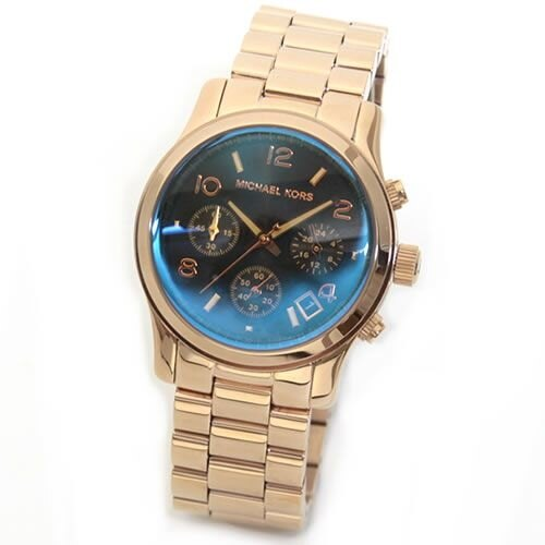 【限時8折 全店滿5000再9折】Michael Kors MK 迷幻漸層湛藍變色三眼腕錶手錶 MK5940 美國Outlet 美國正品代購 5