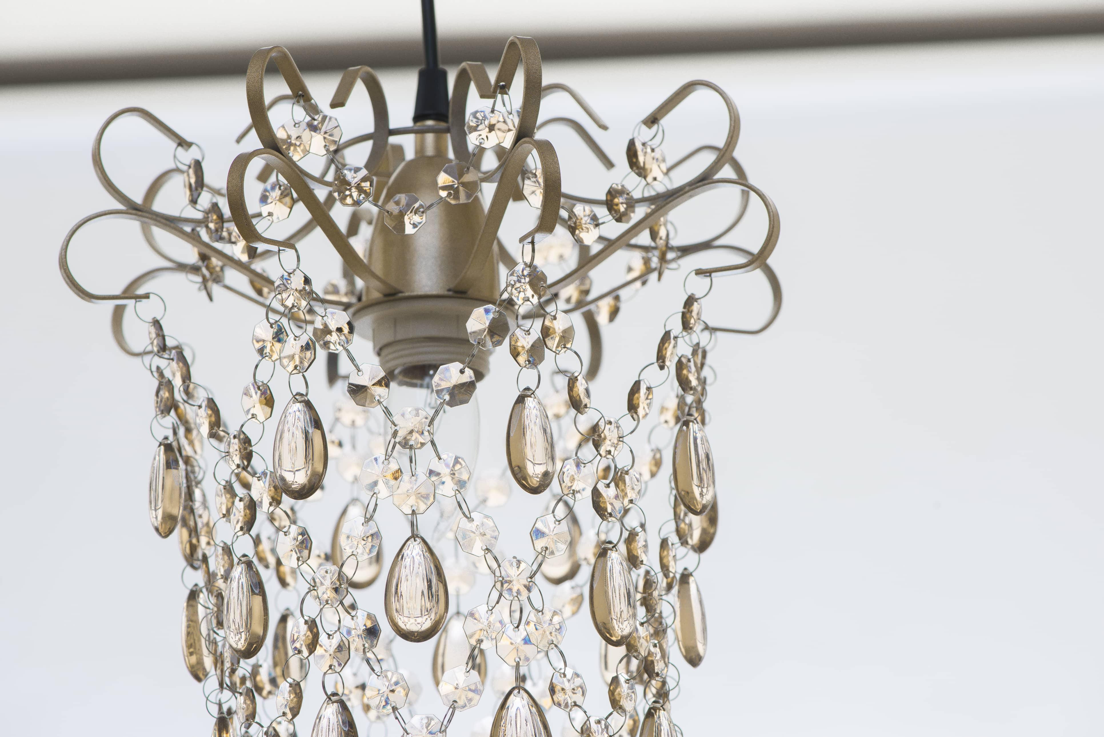 玫瑰金扁鐵框壓克力珠吊燈-BNL00049 5