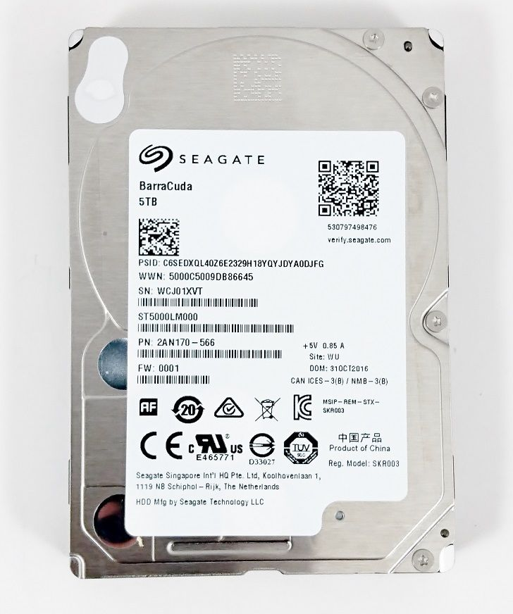 "Seagate Barracuda ST5000LM000 5 TB 2.5""  Hard Drive 15mm 0.59"" height 1"