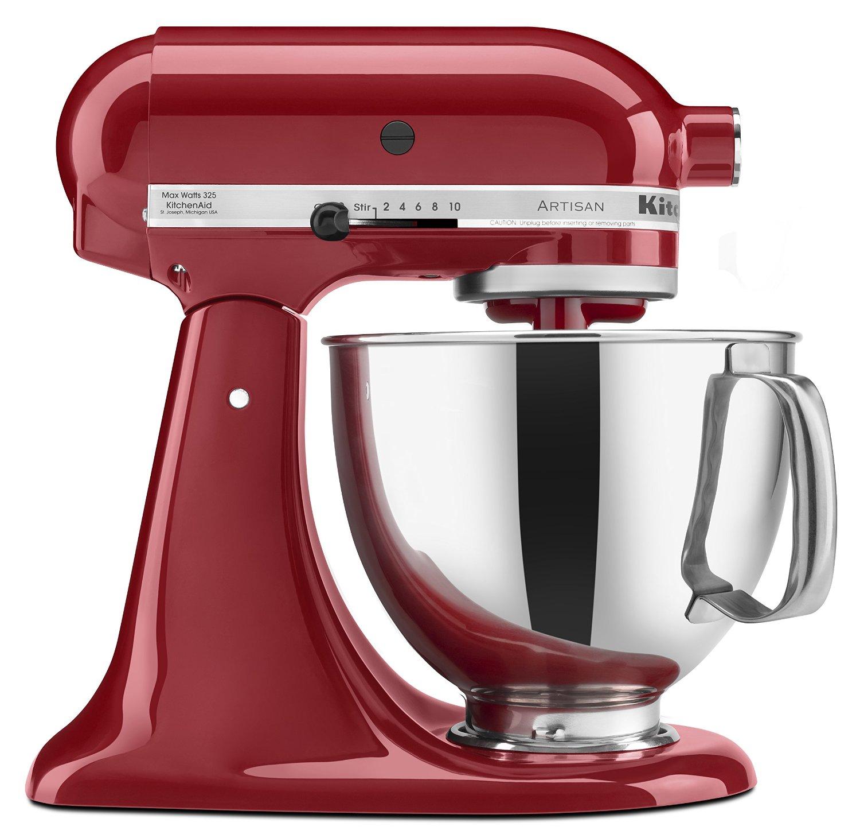 預購 紅色 美國 KitchenAid KSM150PSER Artisan Series 5-Quart Mixer 紅色 福利品 攪拌機