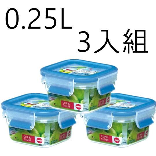 德國EMSA 3D保鮮盒 0.25L #515729 【三入組】