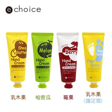 【韓國e choice】莓果抗氧/哈密瓜/乳木果柔順護手/足霜 60g
