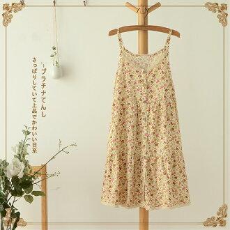 滿799再現折$100 [小雛菊]日系森清小碎花拼接綁帶棉洋裝[2色] - 御聖願