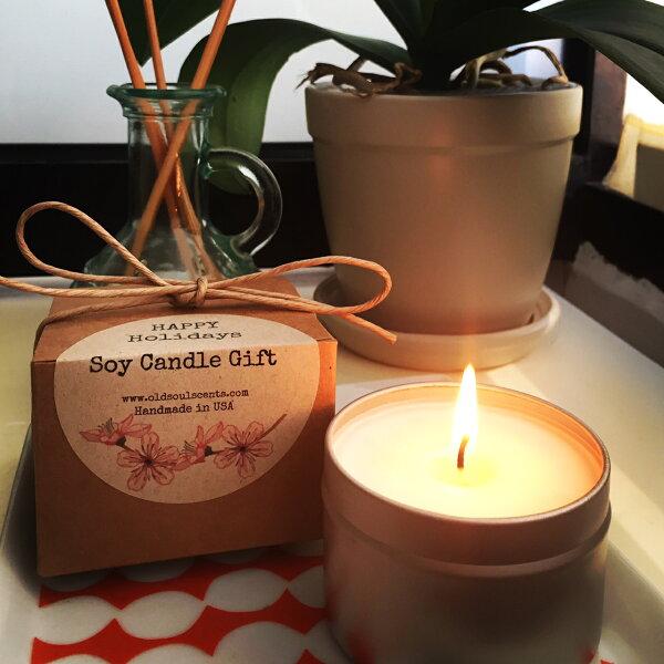 美國蠟燭無香精任2只1250芳療級精油+大豆蠟135g
