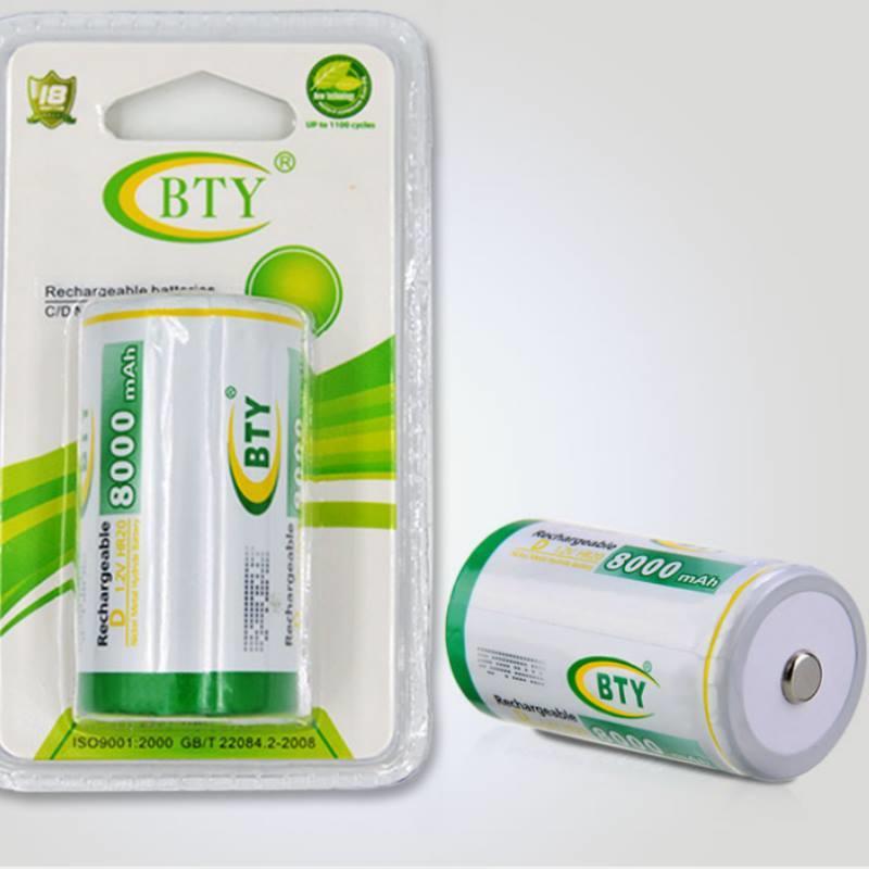 可充電電池1號1入 BTY鎳氫電池8000mah 熱水器電池【DQ207】  123便利屋