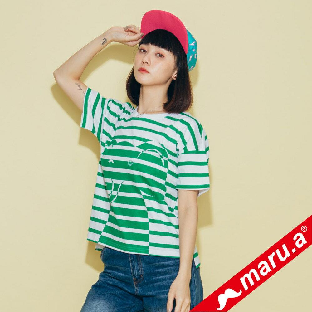 【maru.a】親子裝童趣感小飛象條紋T-Shirt(2色)8321228  /  8351221 1